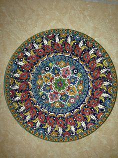 #iran #iranrich #handicraft #art #esfahan #handmade #ایران #ایران_ریچ #صنایع_دستی #سفال #میناکاری #هفت #هفتسین #هفت_سین #haftsin #عیدنوروز #ایران_ریچ #ایران #iran #handicraft Iranian Art, Ceramic Plates, Handicraft, Ecommerce, Beach Mat, Mandala, Outdoor Blanket, Ceramics, Patterns