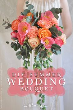 Get ready for your summer wedding with this DIY summer bouquet tutorial. Featuring our ever-popular Dahlias, Poppies, Roses, and Peonies, this silk bouquet is perfect for summer! Follow along with faux flower designer Holly's Wedding Flowers and make your very own bridal bouquet today!