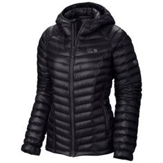 The world's lightest full-featured hooded down jacket. The sub-eight-ounce Ghost Whisperer Hooded Down can be compressed into its own pocket for easy storage. It's been designed with the essentials in mind: Q.Shield™ DOWN 800-fill insulation resists moisture and maintains warmth, elastic binding in cuffs seals out moisture, toggle hem adjusts easily.