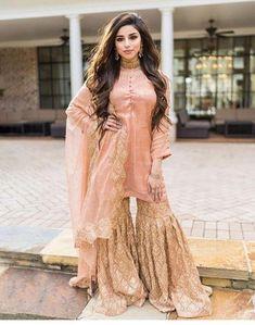Pakistani Wedding Dresses, Pakistani Dress Design, Pakistani Outfits, Indian Outfits, Nikkah Dress, Pakistani Designer Clothes, Choli Dress, Mehndi Dress, Asian Wedding Dress