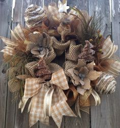 Christmas Wreath Rustic Christmas Wreath Christmas by BaBamWreaths