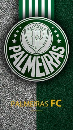 Palmeiras FC, 4K, Brasileiro de clubes de futebol, Brasileiro Serie A, textura de couro, emblema, Palmeiras logo, São Paulo, Brasil, futebol