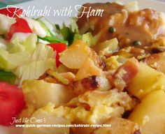 If you've never tried kohlrabi before, give this recipe a try. http://www.quick-german-recipes.com/kohlrabi-recipe.html