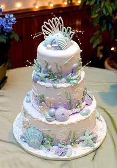 Lovely beach wedding cake