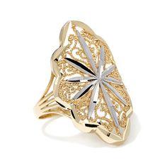 Michael Anthony Jewelry® 10K 2-Tone Filigree Ring