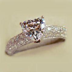 Dresswe.com SUPPLIES Elegant Heart- Shaped Rhinestone Women's Ring Rings