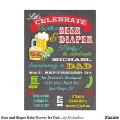 Shop Beer, Brats and Diaper Baby Shower for Dad to be Invitation created by McBooboo. Personalize it with photos & text or purchase as is! Baby Shower Invitations, Custom Invitations, Party Invitations, Invites, Diaper Shower, Baby Shower Diapers, Shower Party, Baby Shower Parties, Man Shower