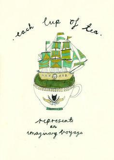 kattfrank:  'Each cup of tea represents an imaginary voyage'