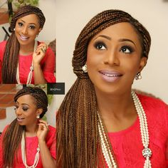Dakore Akande Dishes Trendy Unique Box Braids Updo - Wedding Digest Naija