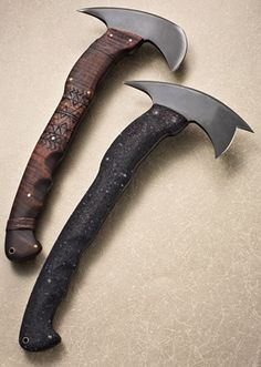 Sayoc Winkler Rnd Hawk is a tactical tomahawk that came from the collaboration of  Sayoc Instructor Rafael Kayanan and Master Bladesmith Daniel Winkler