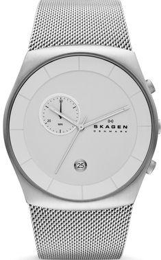 Skagen mens Watch. Just bought him this. - watches, women, nixon, cool, old, olivia burton watch *ad