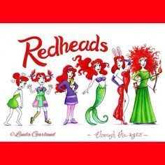 Just finished this fun coloured pencil illustration for an art competition that Redheads Matches are running. The theme is Redheads through the ages..... My picture represents the animation evolution of redheads..... You can check it out on the Redheads FB page and vote for my drawing  #pinkoala #redheads #redhair #redheadsthroughtheages #redheadsartcompetition #redheadsmatches #evolution #animation #wilma #pippilongstocking #daphne #ariel #littlemermaid #jessicarabbit #merida #blvart…