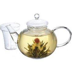 Tetera de vidrio  (1L)  1 Pálpito Love Tea (té en flor)