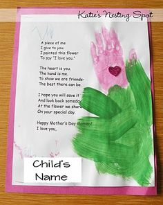 Mothers Day Thumbprint Flower Poem – Flowers For Mother Mothers Day Poems And Gifts For Mothers Preschool Projects, Crafts For Kids, Preschool Activities, Preschool Bible, Church Activities, Toddler Preschool, Flower Poem, Mother's Day Projects, Spring Projects