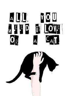 all you need is love or a CAT Etsy  von memorieswarehouse auf Etsy, €3,00