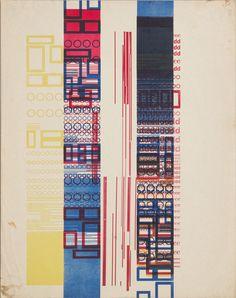 Karel Martens  Untitled, 1958  letterpress monoprint on paper  9 × 11 ⁵⁄₈ in. (229 × 296 mm)