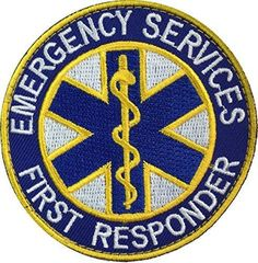 Patch Squad Men's Emergency First Responder EMS Fire Fighter EMT Patch