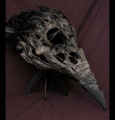 CROW SKULL MASK Would make a FANTASTIC scarecrow head!