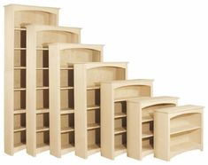 """Shaker Bookcase, 8Ft H x 30""""W One base, one fixed (at 30"""" high), and five adjustable shelves. $351.00"""