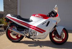 The motorcycle that first sparked my lifelong passion for bikes - the 1987 Honda Hurricane (now known as the CBR).