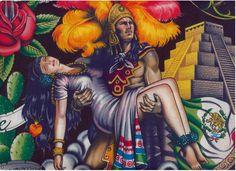 Aztec warrior and princess