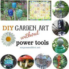DIY Garden Art Without Power Tools
