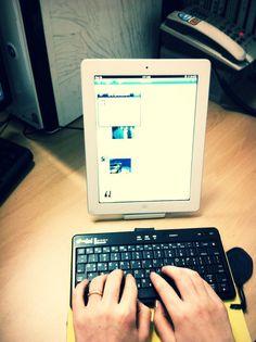 iPad + keyboard