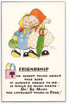 Mabel Lucie Attwell Friendship 1920 Postcard