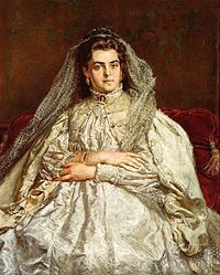 Jan Matejko, Portrait of Teodora Matejko née Giebułtowska in wedding dress, 1879 European Paintings, Contemporary Paintings, 1870s Fashion, Digital Museum, Art Database, Oil Painting Reproductions, National Museum, Great Artists, Vintage Posters