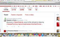 La Provincia di Varese ci retwitta! Grazie!