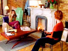 """Carrie Bradshaw and Miranda Hobbes.  6.17:  """"The Cold War"""""""