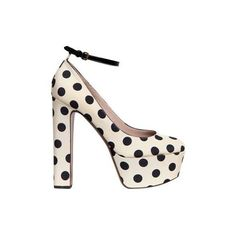 Rochas Polka-dot shoes - Clipped by Ruby ❤ liked on Polyvore
