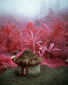 Richard Mosse a utilisé des pellicules de film Kodak Aerocolor, qui n'existe plus et était utilisé en photographie aérienne car en capturant la lumière infrarouge et en la rendant visible il permettait de distinguer plus facilement les changements de végétation, pour photographier le Congo avec ses paysages qui prennent des couleurs surréalistes et ses guerres encore visibles.