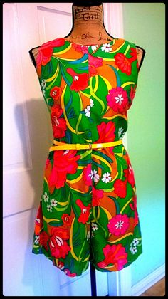 Super GrOoVy Psychedelic romper / Jumpsuit / Mod by PussycatAlice