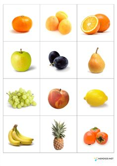39 Ideas fruit and vegetables activities learning for 2019 Healthy Food Activities For Preschool, Montessori Activities, Kindergarten Activities, Fruit Box, New Fruit, Image Fruit, Fruit Names, Vegetable Pictures, Flashcards For Kids