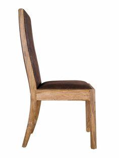 Batamba, chaise cuir masai brun foncé