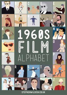 El alfabeto de las películaas realizadas por el ilustrador Stephen Wildish
