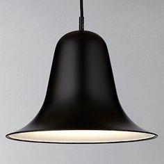 Buy Verpan Pantop Pendant, Matte Black Online at johnlewis.com