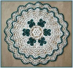 St. Patrick's Day Doily!!!! ... I might re-try thread crochet for this one...