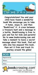 BookCrossing label for a children's book