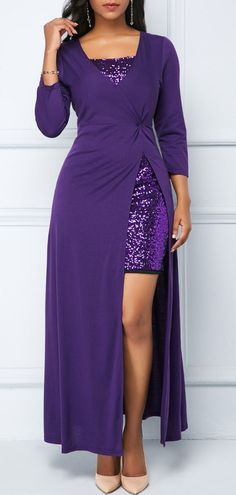 Purple Mini Dress and Zipper Back Maxi Dress .From parties and formal dinners to work events and casual summer afternoons,our women's dress selection features something fllatering for every occasion. Women's Fashion Dresses, Women's Dresses, Casual Dresses, Dresses Online, Sheath Dresses, Purple Mini Dresses, Royal Blue Dresses, Maxi Dress With Sleeves, Lace Dress