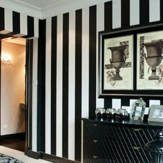 beibehang Modern simple black and white vertical striped wallpaper explosion models wide bedroom bedroom living room wallpaper White Wallpaper, Room, Striped Wallpaper, Black And White Decor, Home Decor, White Interior, Striped Wallpaper Bathroom, Black And White Wallpaper, Striped Walls