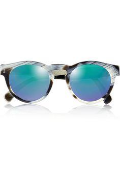 Illesteva|Leonard round-frame acetate sunglasses