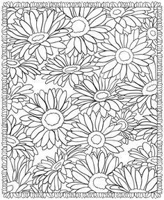 3-D coloring book - floral designs via Dover Publications