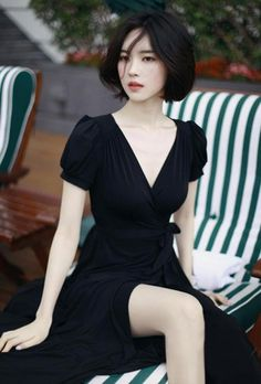 Sophisticated Black Maxi Wrap Dress. Chic Little Black Dress