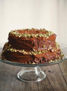 Double Chocolate Sour Cream Cake