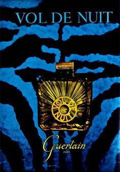 vintage perfume ad: Vol de Nuit from Guerlain.