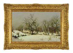 A winter landscape von Albert Drachkovitch