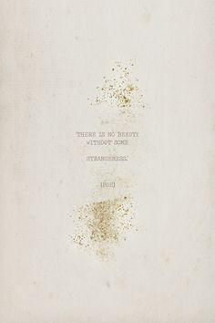 honeypieLIVINGetc: STRANGENESS & GOLD LININGS