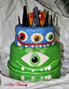 Cake! Fit for a Monster!  I Made this for my little Monster on his 5th birthday (March 17, 2013)